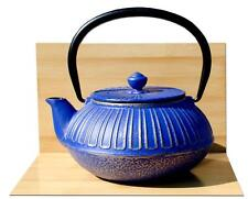 IMPERIAL cast iron tea pot  0.6L Midnight blue on gold colour  Japanese style