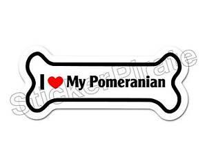 Dog-Bone-Magnet-I-Love-My-Pomeranian-Car-Truck-Locker