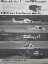 5/1977 PUB FLITE-TRONICS INVERTERS HELICOPTER S-76 GAZELLE BELL A109 ORIGINAL AD