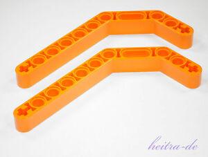 LEGO-Technik-2-x-Liftarm-dick-1x11-5-2-x-45-Grad-orange-32009-NEUWARE