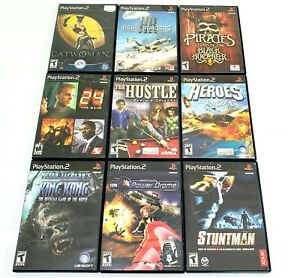Sony PlayStation 2 PS2 Lot of 9 Game Bundle Stuntman Power Drome King Kong