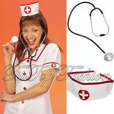 Enfermera disfraces Divertido Sombreros Gorra sombreros y realista Estetoscopio