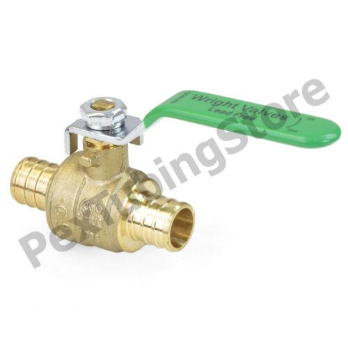 "Full Port Lead-Free Brass Ball Valve for PEX Tubing Crimp Style 3//4/"" PEX"