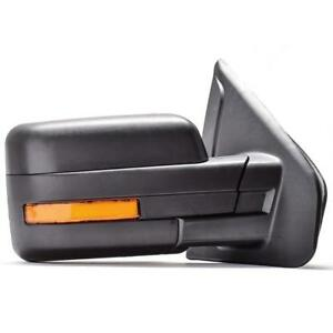 Right-Passenger-Side-07-14-Ford-F150-Black-Power-Heated-Turn-Signal-Side-Mirror