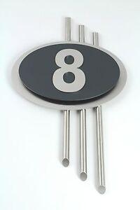 hausnummer anthrazit ral 7016 edelstahl t rschild design. Black Bedroom Furniture Sets. Home Design Ideas