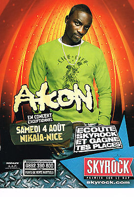 Other Breweriana Publicite Advertising 054 2007 Skyrock Radio Akon En Concert à Nice