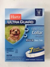 "Hartz Ultraguard Flea and Tick Collar for Puppies 15"" Neck White 7 Months. 80478"