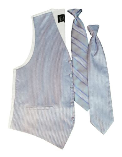 Mens Periwinkle Blue Cardi Venetian Fullback Vest Tie Perfect for Prom Wedding