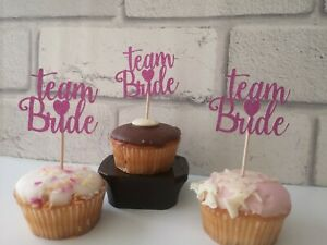 Hen Party Cupcake Toppers x8 ~ Bachelorette Decorations ~ Hen Do Cake Decorations ~ Bridal Shower Accessories ~ # Cup Cake Picks