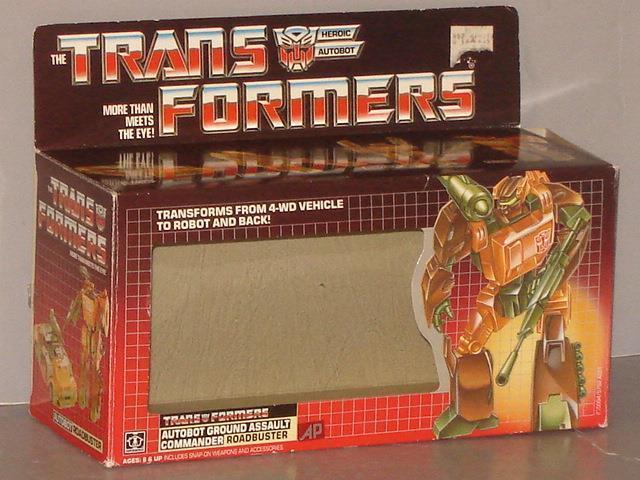 G1 TRANSFORMER  ROADBUSTER EMPTY BOX MINT  ALMOST NO FLAP CREASE ULTRA RARE