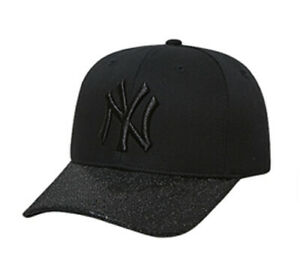 c5d8eeca8dc New NY Yankees Adjustable Cap MLB Korea Raised Embroidery Glitter ...