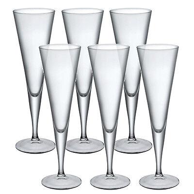 6x Bormioli Rocco Ypsilon Champagne Flutes Glassware Dinner Glasses Toast Wine