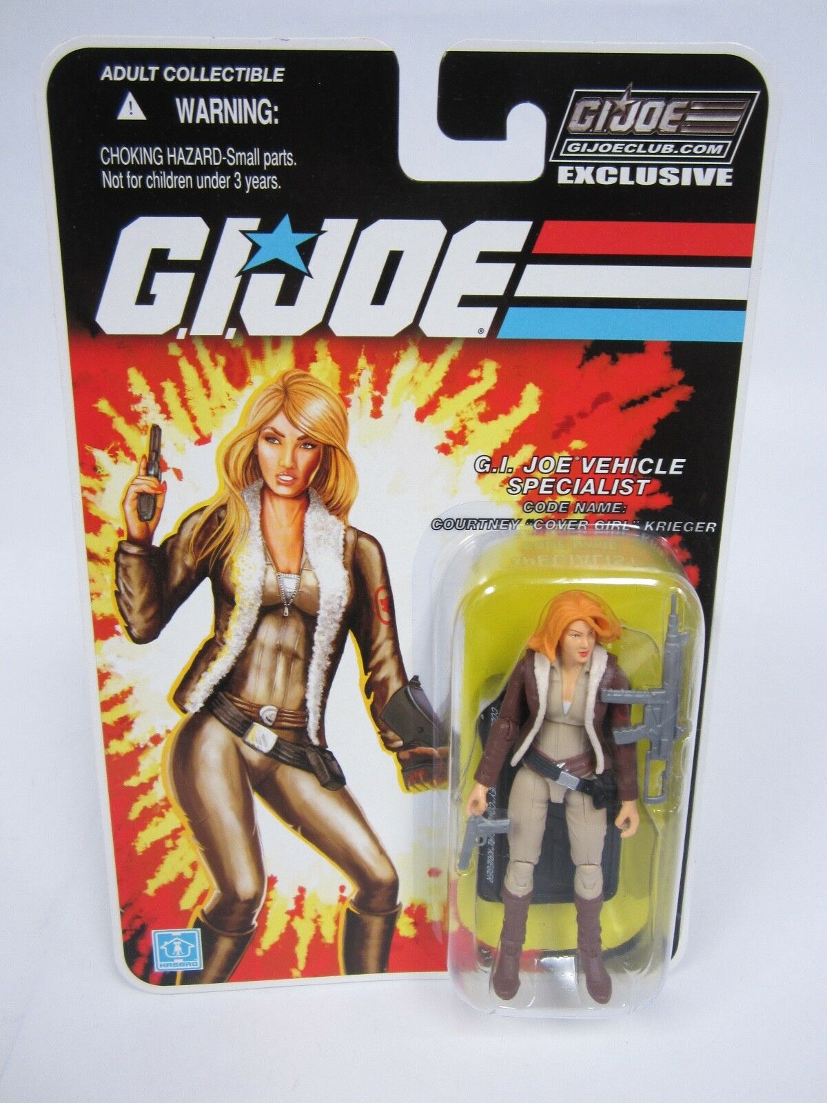 G.I. JOE COLLECTOR'S 2.0 CLUB EXCLUSIVE FSS 25TH COVER GIRL COURTNEY KRIEGER MOC