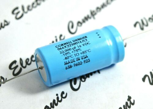 1pcs-CDE 22000uF 16V Axial Electrolytic Capacitor 066X223U016JL2