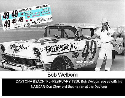 Automotive Dashing Cd_898 #49 Bob Welborn 1956 Chevy 1:64 Scale Decals ~overstock~ Products Are Sold Without Limitations