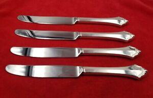 4-Dinner-Knives-Belcourt-by-Oneida-Community-Silverplate-Flatware-9-1-4-034