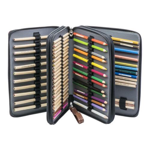 Three Layers Pencil Case Pen Pencil Case Organizer With 120 Slot Delicate