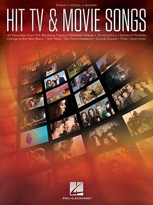 Hit TV /& Movie Songs Sheet Music Piano Vocal Guitar SongBook NEW 000195514