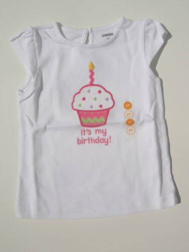 Gymboree NWT BUTTERFLY BLOSSOMS HAPPY BIRTHDAY Its my Top Shirt Cupcake 2 3 4 5