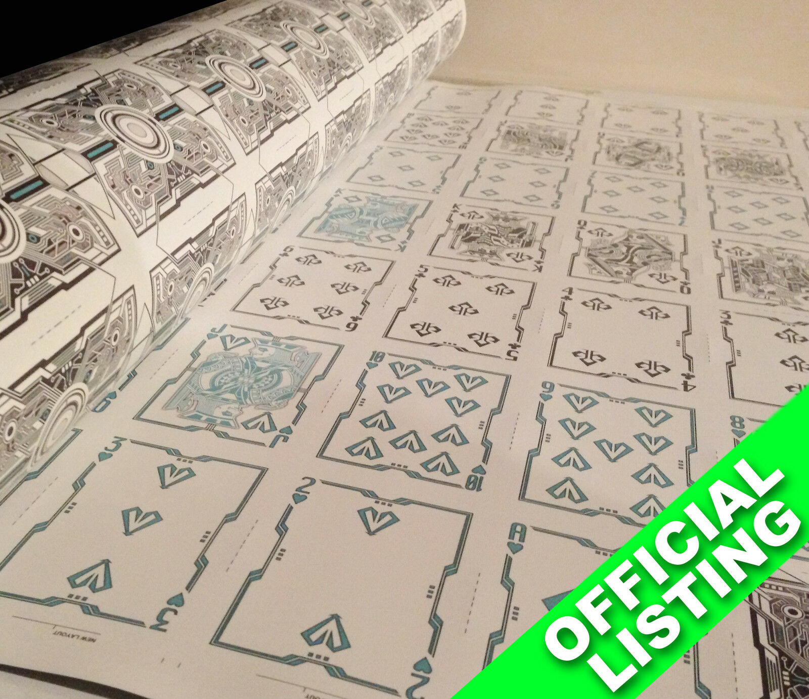UNCUT SHEET of Grid 2.0 Bicycle UV Ink Playing Cards