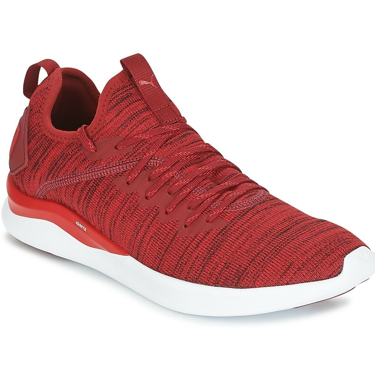 MENS PUMA MEN'S IGNITE FLASH EVOKNIT RED DAHLIA CASUAL SHOES MEN'S PUMA SELECT YOUR SIZE 61b1cc