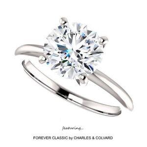 2-00-Carat-Moissanite-Forever-Classic-Solitaire-Ring-in14k-Gold-Charles-amp-Colvard