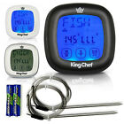 King Chef Barbecue Digital Meat Thermometer & Timer w/ 2 Stainless Steel Probes