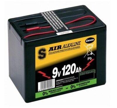 9V Pile Batterie pour clôture électrique 120Ah Longue Dure Air Alkaline