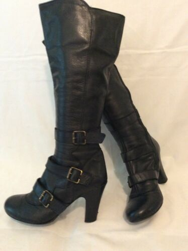 Size Knee Black Boots High Schuh Leather 36 dwX5qxFIF