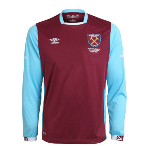 7-8 Years Official Umbro West Ham United Junior Home Shirt 2016//17 SB Size