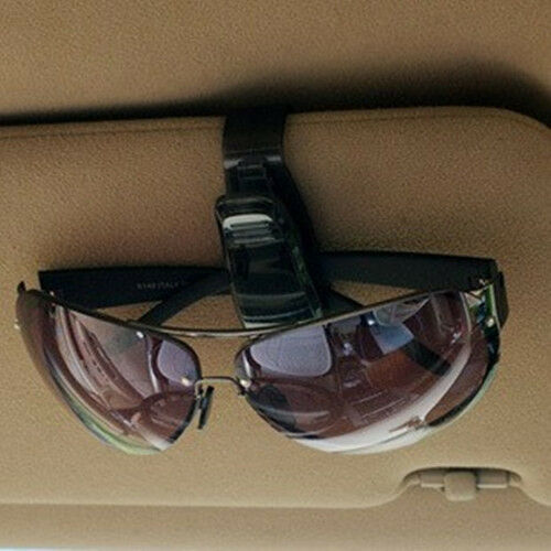 Black Universal Car Auto Sun Visor Glasses Sunglasses Card Ticket Holder Clip