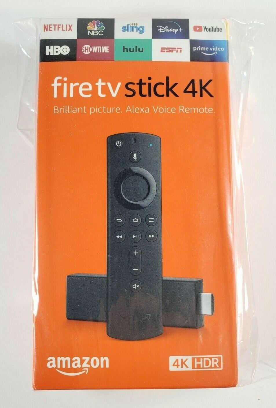 Amazon Fire TV Stick 4K, Streaming Media Player w/ Alexa, Latest Gen, Sealed! 🎁 amazon fire latest media player stick streaming