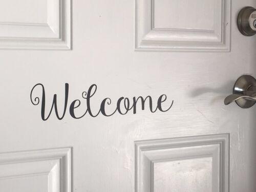 """Front Door Welcome Vinyl Decal Sticker 11.5/""""/"""" Home Decor  Design#105"""