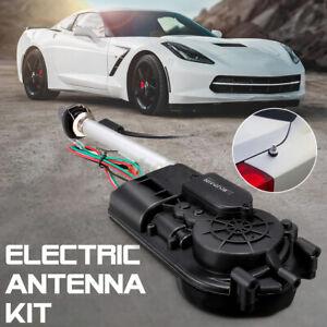Electric-Car-Aerial-Radio-Automatic-Booster-Power-Antenna-amp-Amount-Kit-Set-Black