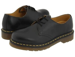 New-Men-039-s-Shoes-Dr-Martens-1461-3-Eye-Classic-Black-Smooth-Leather-11838002