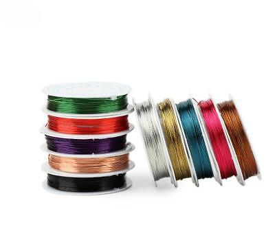 Wholesale Lot Soft Colorful Copper Wire//Wire line for DIY Jewelry Making 0.3-0.8