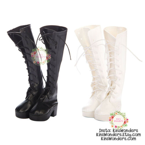 Doll Shoes 60cm Long Boots with Laces- BJD Mirodoll Goth SD 1/3 1/4 Heels Soft