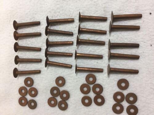 """Copper Rivets 1 1//4"""" /& Burrs •vintage • quantity of 20"""