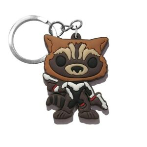 Marvel-Rocket-Raccoon-PVC-Kawaii-Cartoon-Novelty-Keyring-Keychain-Gift-Bag