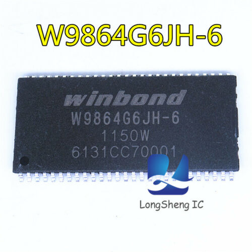 5PCS W9864G6JH-6 1Mx4BANKS x16 BITS SDRAM TSSOP54 new