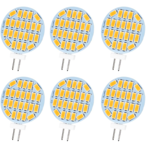 Jenyolon G4 LED Light Bulb DC//AC 12V Warm White 3000K to 30W G4 400 Lumens 3W