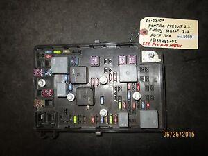 07 09 pontiac pursuit 2 2 chevy cobalt 2 2 fuse box 15139455 02 box rh ebay com 2005 pontiac pursuit fuse box location pontiac pursuit fuse box location