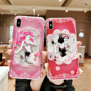 For-iPhone-Xs-Max-SR-XS-X-8-7-6Plus-Mermaid-Princess-Alice-Phone-Case-Cover-Back