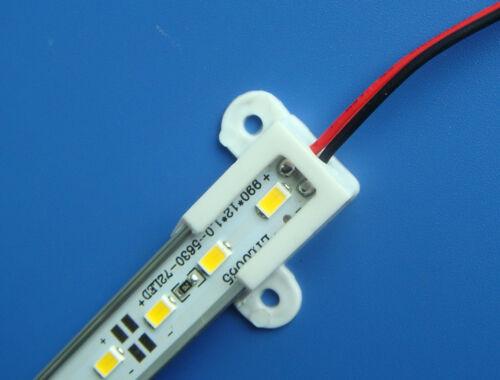 10x 25cm LED Bar Light 12V 18LED 5630 SMD White Aluminium Rigid LED Hard Strip