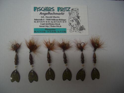 5 x Mepps Bug 2,5 g 1 Gratis zum Sparpreis Spinner 6 Stück Gr