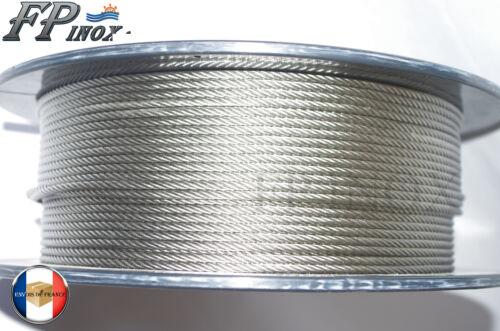 A4 Cable 4mm inox 316 Souple 7x19 VENDU AU METRE inox 316