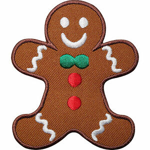 gingerbread man embroidered iron   sew on patch clothes money bag clipart money bag clip art 50/50