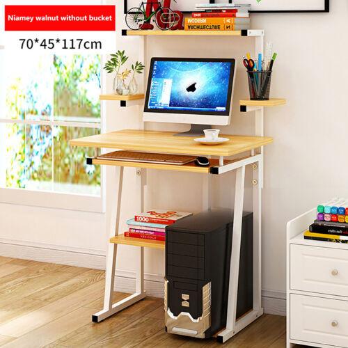 Compact Small Computer Desk PC Laptop Corner Table Desktop Home Study W// Shelves