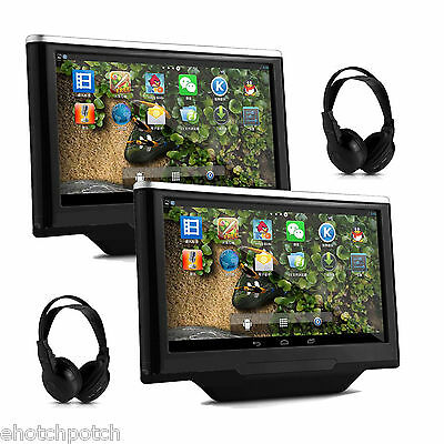 """10.1"""" Capacitive Screen Android 4.4 Car Headrest Player GPS PC Tablet Monitor"""