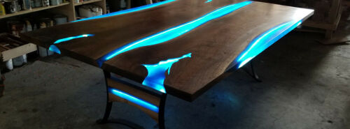 green mixed with epoxy resin blue strontium Aluminate Glow in the dark aqua